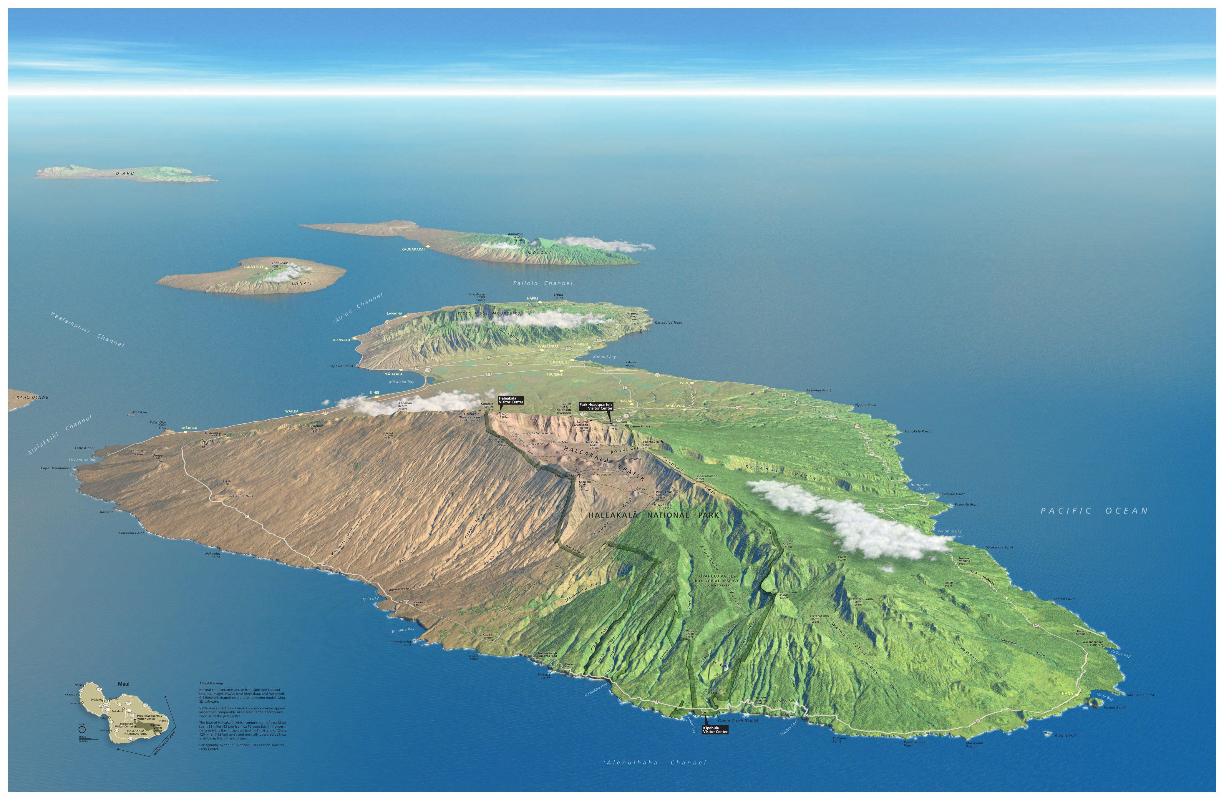 haleakala-maui-3d-map