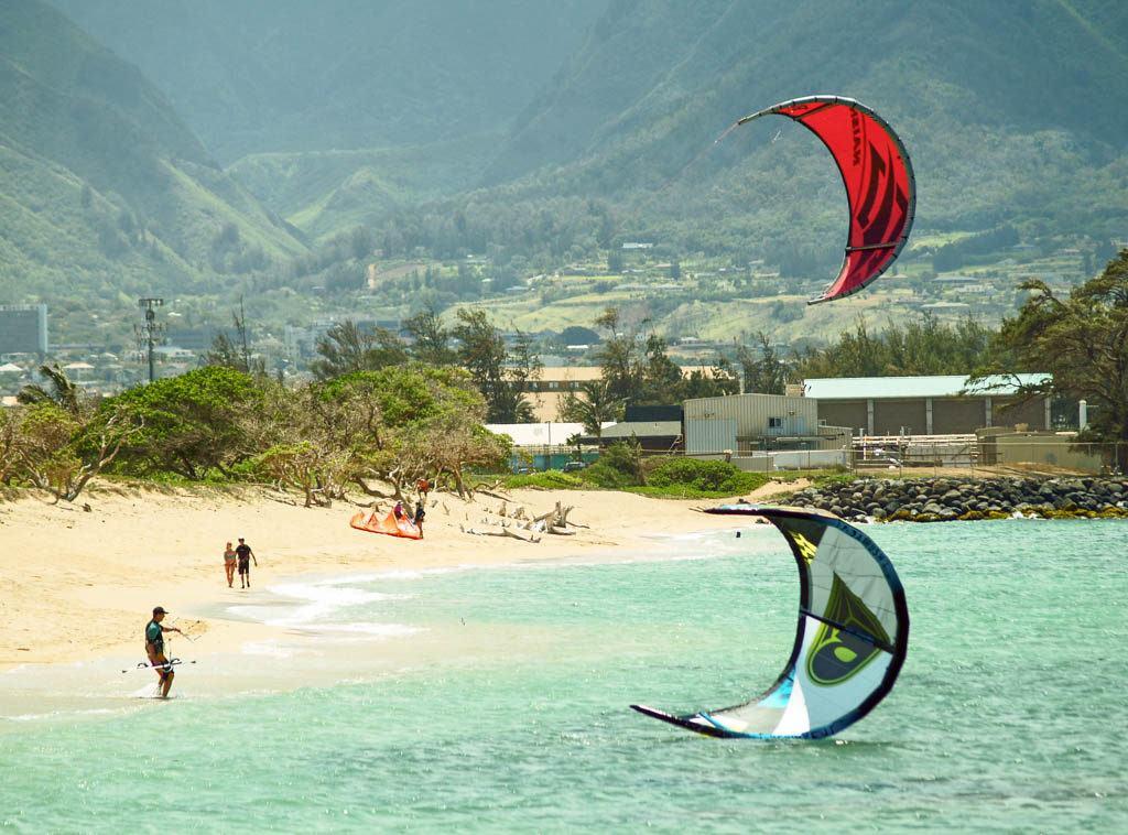 Kanaha Beach Maui Kite Boarding kites