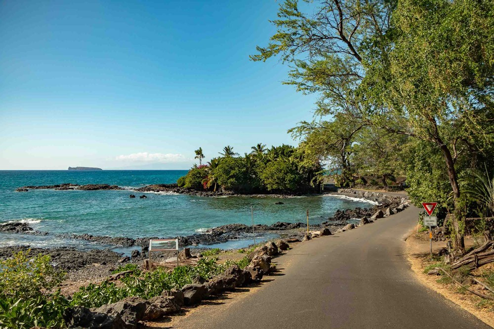 Maui Road Near Makena