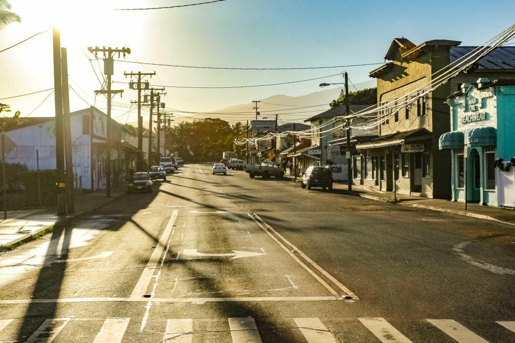 Paia Town Main Street Maui