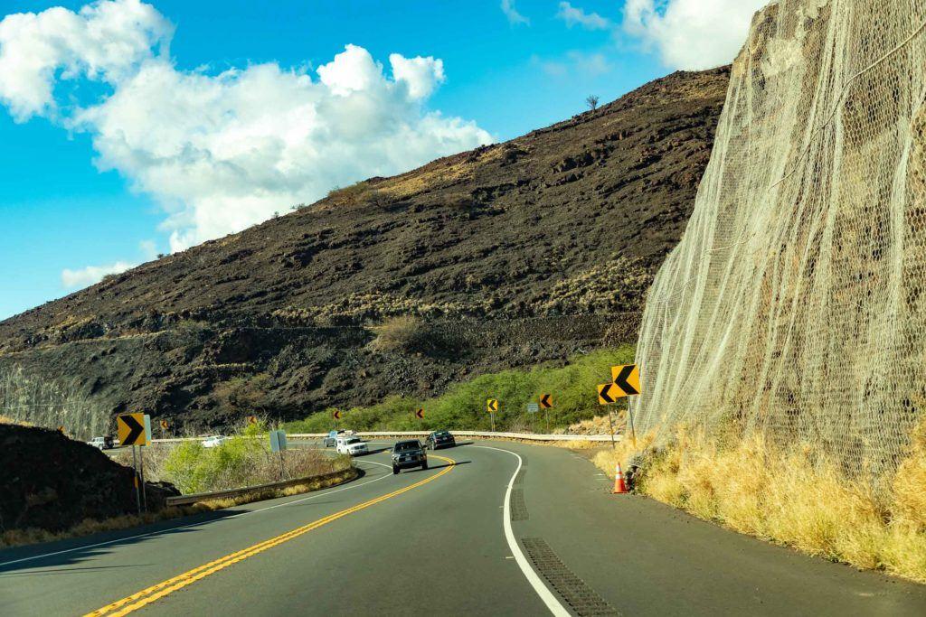 Pali Road to Lahaina Maui